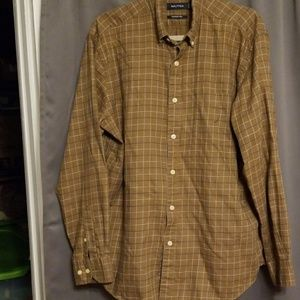 Nautica men's long sleeve shirt size L